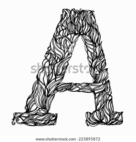 Herbal Vector Letters Letter A Can Be Used As