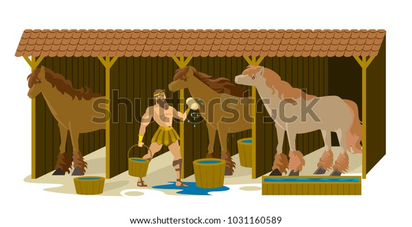 Awe Inspiring Hercules Cleaning Augean Stables Stock Vector Royalty Free Download Free Architecture Designs Scobabritishbridgeorg
