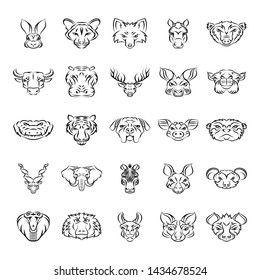 Here is a set of animal mascot drawing icons, having imagery visuals of animals mascot  icons that you can easily edit and utilize in your project needs