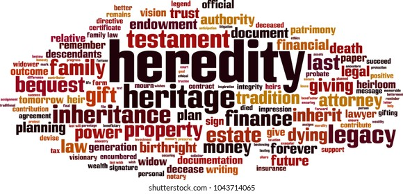 Heredity word cloud concept. Vector illustration