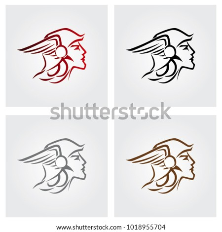 Hermes Greek God Stock Vector Royalty Free 1018955704 Shutterstock