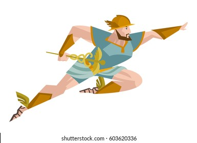 hermes mercury roman greek olympian god