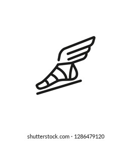 Hermes sandal line icon. Ancient Gods, history, legends. History concept. Can be used for topics like ancient history , myths,  sagas.