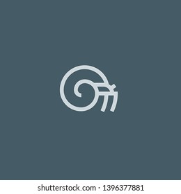 Hermit Crab vector icon. Hermit Crab concept stroke symbol design. Thin graphic elements vector illustration, outline pattern for your web site design, logo, UI. EPS 10.