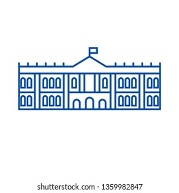 Hermitage, museum line icon concept. Hermitage, museum flat  vector symbol, sign, outline illustration.