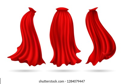 71658f43031 Red superhero cloak vector illustration
