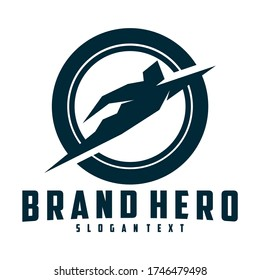 hero logo creative simple design vector