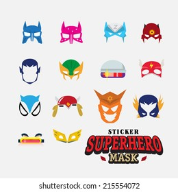 hero mask. face character - vector illustration