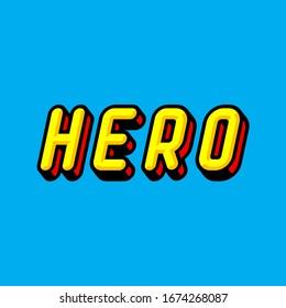Hero Text Effect Illustration Design