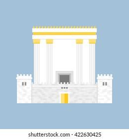 Herod's Temple, flat design