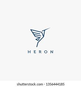 heron design logo concept