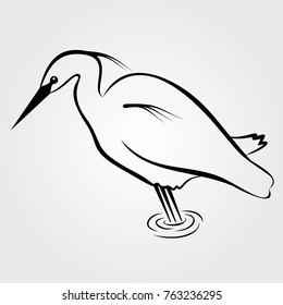Heron Icon Isolated On White Background