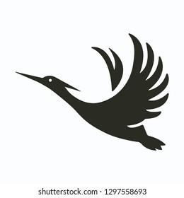 heron logo design
