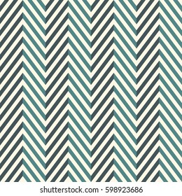 Herringbone abstract background. Blue colors seamless pattern with chevron diagonal lines. Can be used for digital paper, textile print, page fill. Vector illustration