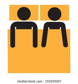 pareja heterosexual en la cama - desde arriba