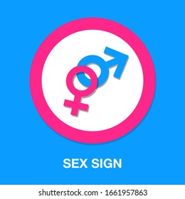 heterosexual isolated vector - sex sign illustration sign . married sign symbol