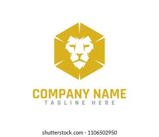 Hexa Lion Logo Design