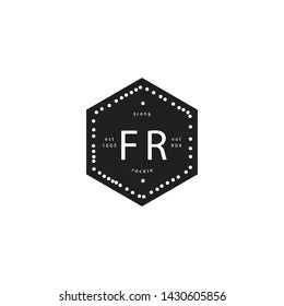 Hexa vintage logo. this logo made up with hexagon, white dot and company name in creative way.