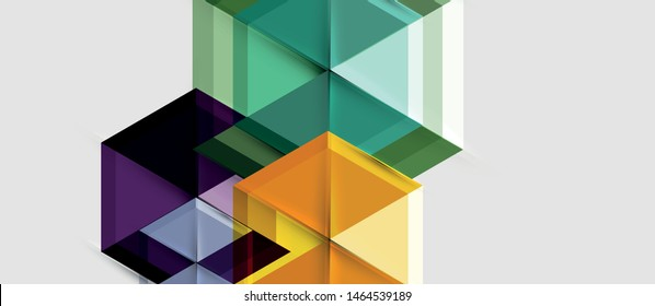 Hexagon abstract background, geometrical modern template, vector business presentation wallpaper design