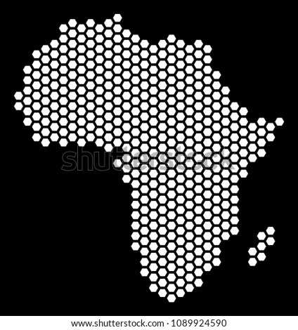 Africa Map Background.Hexagon Africa Map Vector Territory Plan Stock Vector Royalty Free