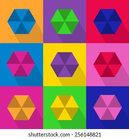 Hexagon background with shade (Vector EPS10)
