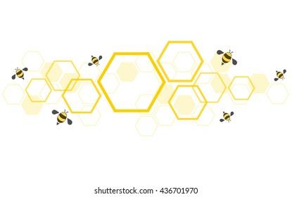 hexagon bee hive design background vector EPS10