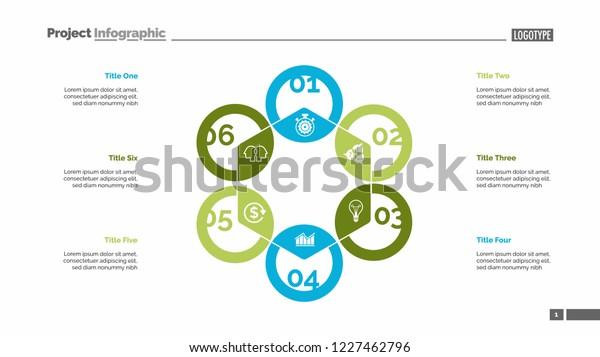Hexagon Chart Process Diagram Cycle Graph Stock Vector