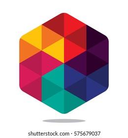 hexagon design, design element for logo