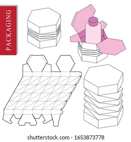 Hexagon design template for product.