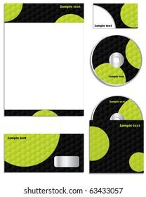 Hexagon dots business set