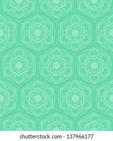 Hexagon geometric pattern in mint green and tropical aqua blue colors. Texture for web, print, wallpaper, home decor, spring summer fashion, website or wedding invitation background