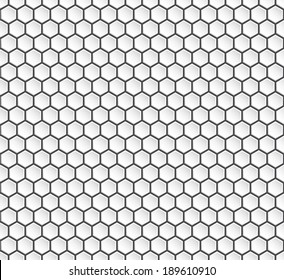 Hexagon geometry, abstract background, seamless vector.