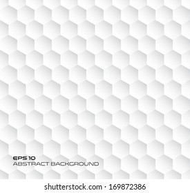 Hexagon geometry texture, abstract background, seamless vector