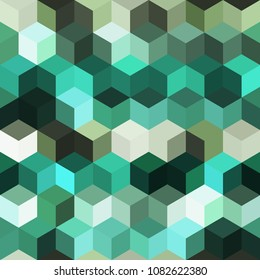 Hexagon grid seamless vector background. Stylized polygons six corners geometric design. Trendy colors hexagon cells pattern for game background. Honeycomb shapes mosaic backdrop.