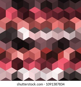 Hexagon grid seamless vector background. Cool polygons with six corners geometric graphic design. Trendy colors hexagon cells pattern for flyer or cover. Hexagonal shapes modern backdrop.