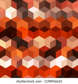 Hexagon grid seamless vector background. Cool polygons with bauhaus corners geometric graphic design. Trendy colors hexagon cells pattern for game ui. Hexagonal shapes modern backdrop.