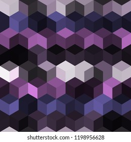 Hexagon grid seamless vector background. Bright polygons with bauhaus corners geometric graphic design. Trendy colors hexagon cells pattern for game background. Honeycomb shapes mosaic backdrop.