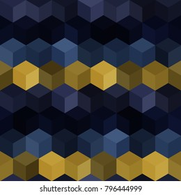 Hexagon grid seamless vector background. Cool polygons with six corners geometric graphic design. Trendy colors hexagon tile pattern for banner or card. Hexagonal shapes modern backdrop.