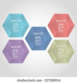Hexagon infographic - Modern hexagon infographic template.EPS10 vector.All lelements in separate layers.