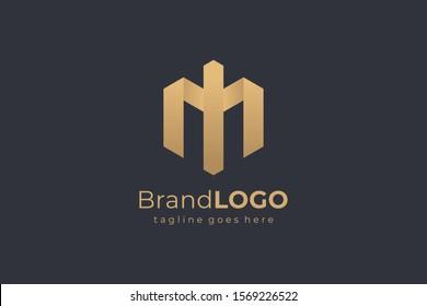 Hexagon Letter I and M Construction Architecture Building Logo. Flat Vector Logo Design Template Element
