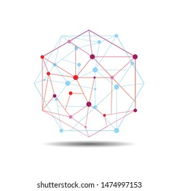 Hexagon logo - Hexagon blockchain technology. Hexagon with connected lines for brand, label, logo, logotype of smart       contract block symbol.