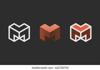 Hexagon logo design. Creative emblem template. Studio logotype