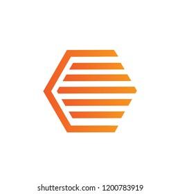 hexagon logo design, hexagon line logo design for business, abtract logo design vector eps 10