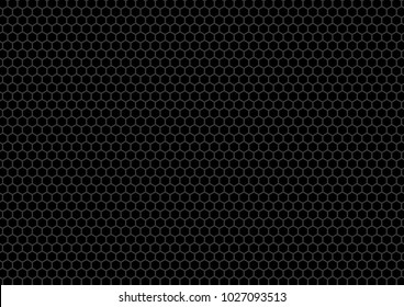 Hexagon on black background