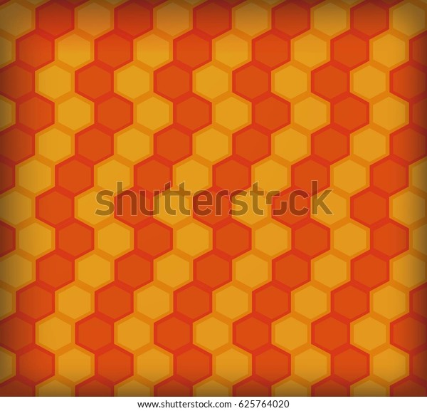 hexagon orange color pattern wallpaper 600w 625764020
