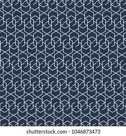 Hexagon ornament pattern - seamless geometric background.