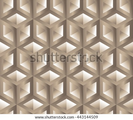 hexagon pattern background 3 d lattice seamless stock vector