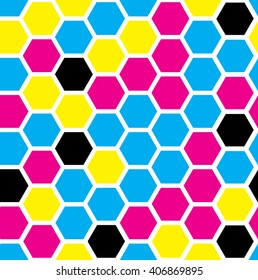hexagon pattern. geometric background. abstract modern tile. vector illustration. design for the background display, flyers, brochures fabric, clothes, texture, textile pattern. cmyk color