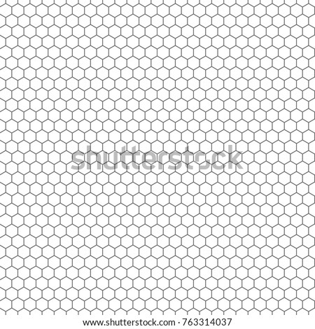 Hexagon Seamless Vector Texture Hexagonal Grid Stock Vector Royalty