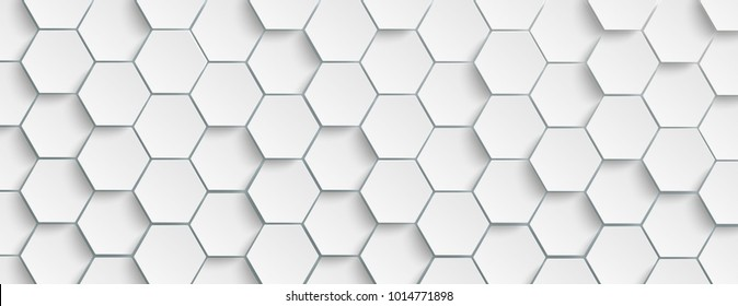 Hexagon-Struktur auf grauem Hintergrund. Eps10 Vektordatei.